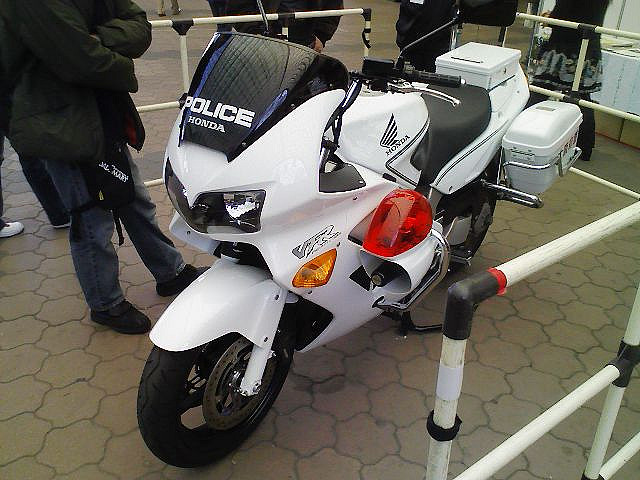Japanese police motorcycle