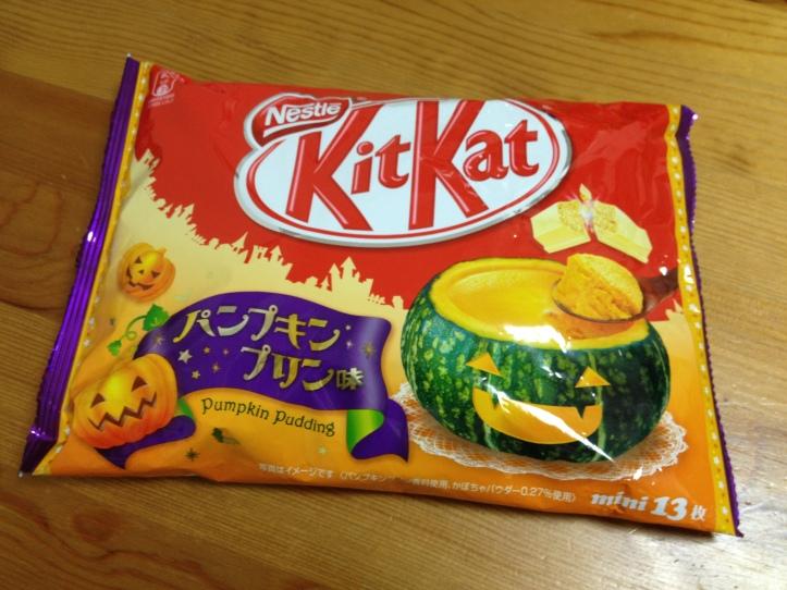 Halloween Pumpkin Pudding KitKats