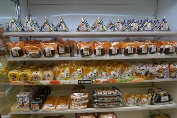 Japanese rice balls for sale in a conbini.