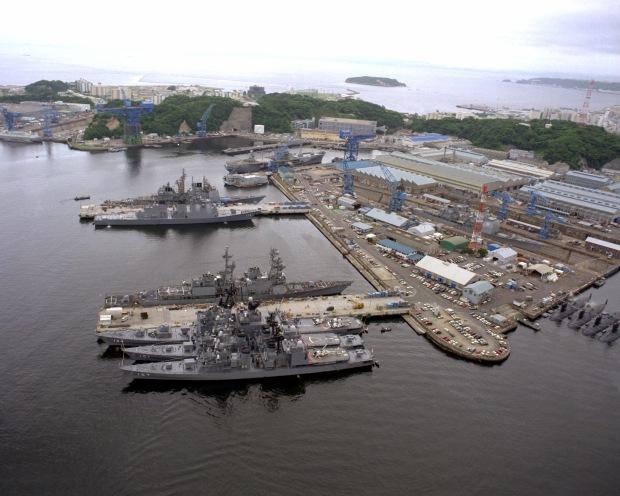 Yokosuka Naval Base in Japan