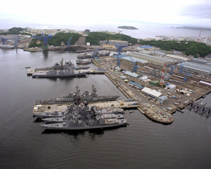Yokosuka Naval Base in Japan