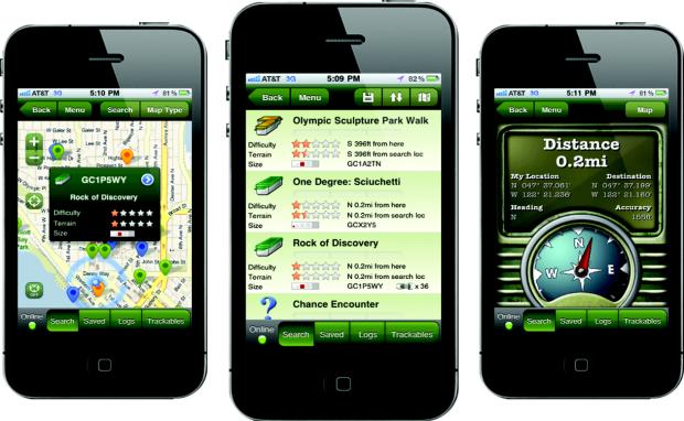 Geocaching smartphone apps