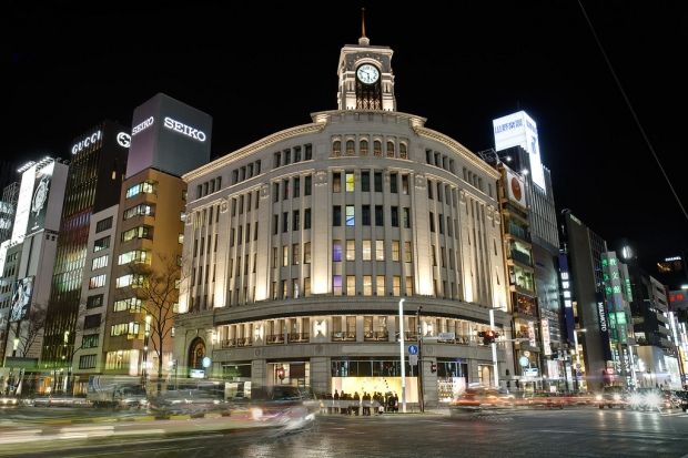 Fancy Smancy rich area of japan...Ginza!