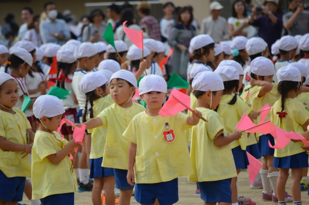 My 4 year old awesome boy during his school7s Sports Day closing ceremony.